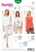 6762 Burda Pattern: Misses' Box Style Pull-on Blouses